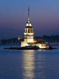Kizkulesi  the Bosphorus  Istanbul  Turkey  Europe
