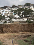 Outer Wall of the Ancient City of Harar  Ethiopia  Africa