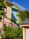 Colourfully Painted Buildings at Orient Beach  St Martin  Leeward Islands  West Indies