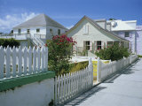 Street Scene and Houses  New Plymouth  Green Turtle Cay  Bahamas  West Indies  Central America