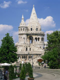 Fishermans Bastion  a Landmark in Budapest  Hungary  Europe