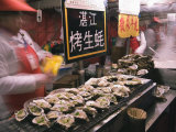Street Market Selling Oysters in Wanfujing Shopping Street  Beijing  China
