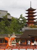 Senjokaku 5 Story Pagoda at Itsukushima Shrine  Miyajima Island  Honshu Island  Japan