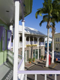 Colourful Buildings Surrounding the Central Piccadilly Circus  Basseterre  St Kitts  West Indies