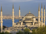Blue Mosque in Sultanahmet  Overlooking the Bosphorus  Istanbul  Turkey