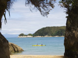 Kayak at Watering Cove  Abel Tasman National Park  Nelson  South Island  New Zealand