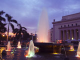 Fountain at Sunset  Rizal Park  Intramuros District  Manila  Philippines  Southeast Asia