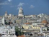 Skyline and El Capitolio Nacional from Iglesia Y Monasterio De San Francisco De Asis  Havana  Cuba