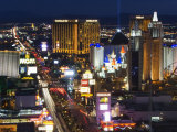 Neon Lights of the The Strip at Night  Las Vegas  Nevada  United States of America  North America