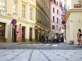 Street Scene in Stare Mesto  Prague  Czech Republic  Europe