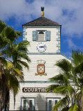 Courthouse in the Dutch Capital of Philipsburg  St Maarten  Leeward Islands  West Indies