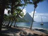 Pitons  St Lucia  Windward Islands  West Indies  Caribbean  Central America