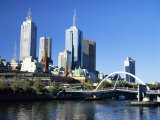 City Skyline from Southgate  Melbourne  Victoria  Australia  Pacific