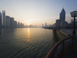Sunrise over Huangpu River and Pudong New Area  Shanghai  China