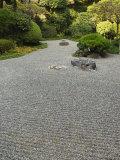 Dry Stone Garden in Hokoku-Ji Temple Kamakura City  Honshu Island  Japan