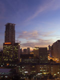 City Skyline at Sunset  Makati Business District  Manila  Philippines  Southeast Asia