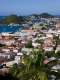 Elevated View over the Town from Blackbeard's Castle  St Thomas  US Virgin Islands  West Indies