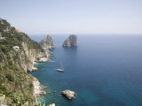 Capri  with the Famous Faraglioni Rocks on the Back Ground  Capri  Bay of Naples  Italy