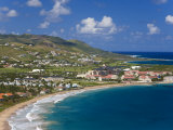 Elevated View over Frigate Bay and Frigate Beach North  St Kitts  Leeward Islands  West Indies