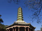 Seven Tier Pagoda in Fragrant Hills Park in the Western Hills  Beijing  China