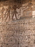 Images and Hieroglyphics Adorn the Walls of Medinet Habu Temple Complex  Thebes  Egypt