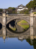 Imperial Palace and the Decorative Niju-Bashi Bridge  Tokyo  Honshu  Japan