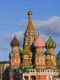 St Basils Cathedral  Red Square  UNESCO World Heritage Site  Moscow  Russia  Europe