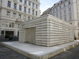 Jewish Holocaust Memorial in Judenplatz  Vienna  Austria  Europe