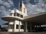 Futuristic Fiat Tagliero Building  Asmara  Eritrea  Africa