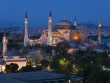 Elevated View of Aya Sofya  in Sultanahmet  Istanbul  Turkey