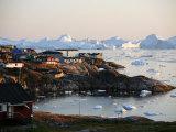 Ilulissat Kangerlua Glacier also known as Sermeq Kujalleq  Ilulissat  Disko Bay  Greenland