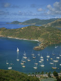 English Harbour  with Moored Yachts  Antigua  Leeward Islands  West Indies  Caribbean