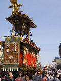 Decorated Floats at Takayama Spring Festival  Honshu Island  Japan