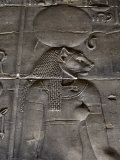Relief Carvings Adorn the Walls of the Temple of Philae  Near Aswan  Egypt