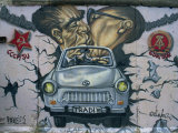East Side Gallery  Remains of the Berlin Wall  Berlin  Germany  Europe