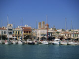Yachts Moored in Harbour  Aegina Town  Aegina  Saronic Islands  Greek Islands  Greece  Europe