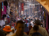 Souq at the Medina  Marrakesh  Morocco North Africa  Africa