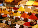 Spice Shop at the Spice Bazaar  Istanbul  Turkey  Europe