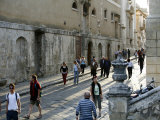 People Walking by the Main Street in Noto  Sicily  Italy  Europe