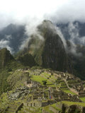 Machu Picchu  UNESCO World Heritage Site  Peru  South America