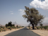 An Empty Road and the Barren Landscape of Western Eritrea  Africa
