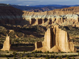 Cathedral Valley in Capitol Reef National Park  Utah  USA