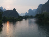 Li River in Yangshuo  Near Guilin  Guangxi Province  China