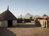Homes Lie in the Shadow of Taka Mountain in the Town of Kassala  Sudan  Africa