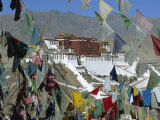 Potala Palace  UNESCO World Heritage Site  Seen Through Prayer Flags  Lhasa  Tibet  China