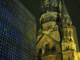 Remembrance Church and the Kaiser Wilhelm Memorial Church  Kurfurstendam  Berlin  Germany
