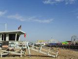 Life Guard Watch Tower  Santa Monica Beach  Los Angeles  California  USA