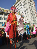 Stilt Walkers  Chinese New Year  Spring Festival  Beijing  China