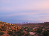 Sunset over the Fiery Furnace  Arches National Park  Utah  United States of America  North America
