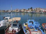 Fishing Boats Moored in Harbour  Aegina Town  Aegina  Saronic Islands  Greek Islands  Greece